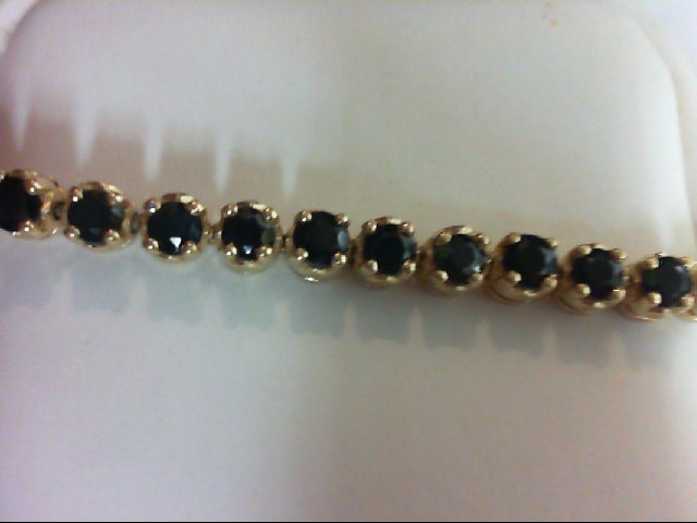 Sapphire Gold-Stone Bracelet 14K Yellow Gold 9.9g
