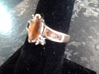 Synthetic Agate Lady's Stone Ring 10K Yellow Gold 1.8dwt