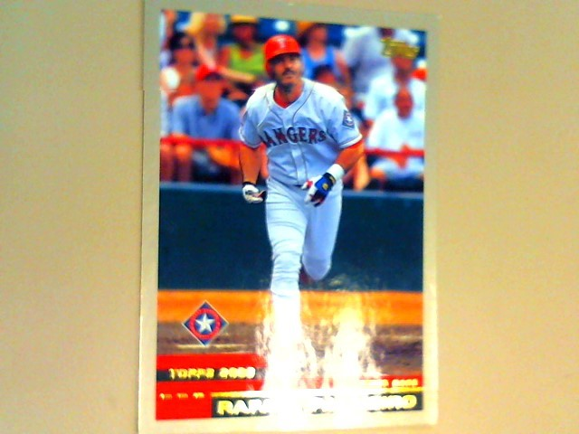 TOPPS Sports Memorabilia BASEBALL CARD