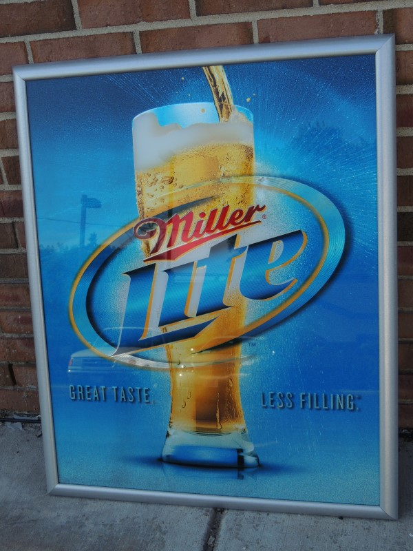 MILLER LITE BAR SIGN / MIRROR