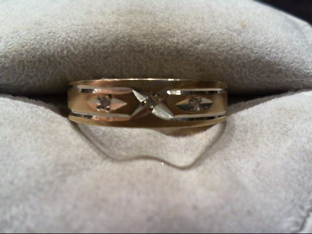 Gent's Gold Wedding Band 10K Yellow Gold 2.5g Size:7.5