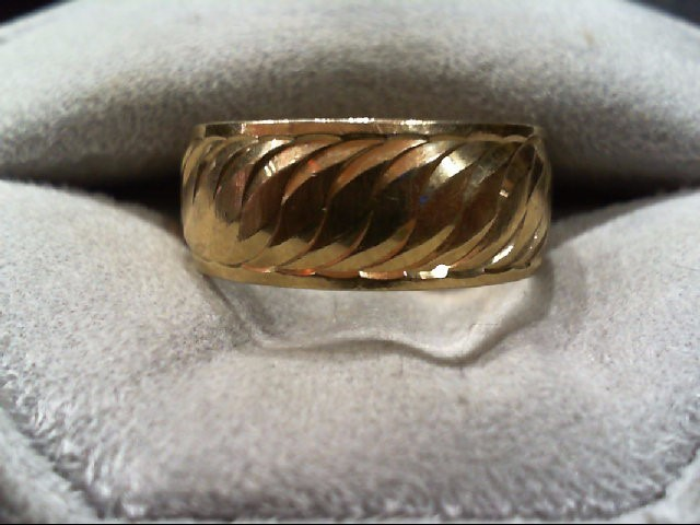 Lady's Gold Wedding Band 10K Yellow Gold 5.1g Size:9