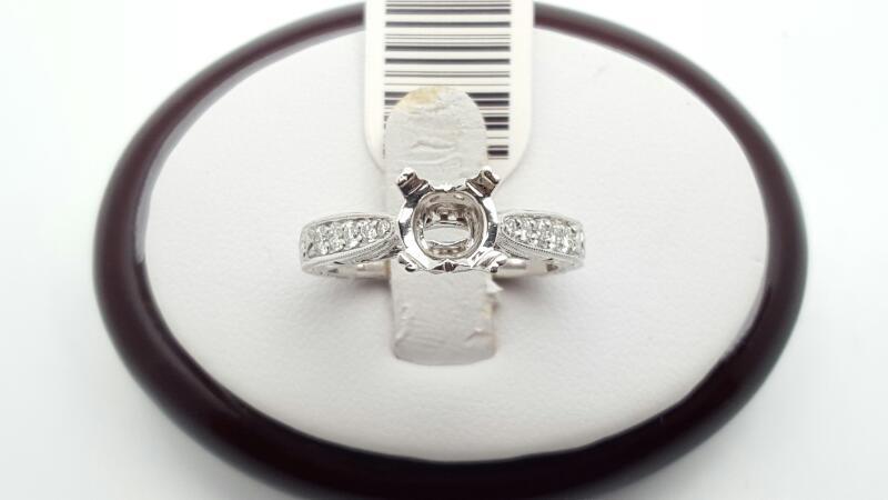 Lady's Diamond Fashion Ring 15 Diamonds .30 Carat T.W. 14K White Gold 4.5g
