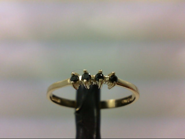 Sapphire Lady's Stone Ring 14K Yellow Gold 1.1g Size:6.5