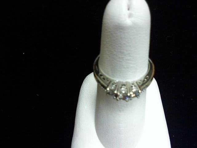 Lady's Gold-Diamond Anniversary Ring 9 Diamonds .53 Carat T.W. 14K White Gold