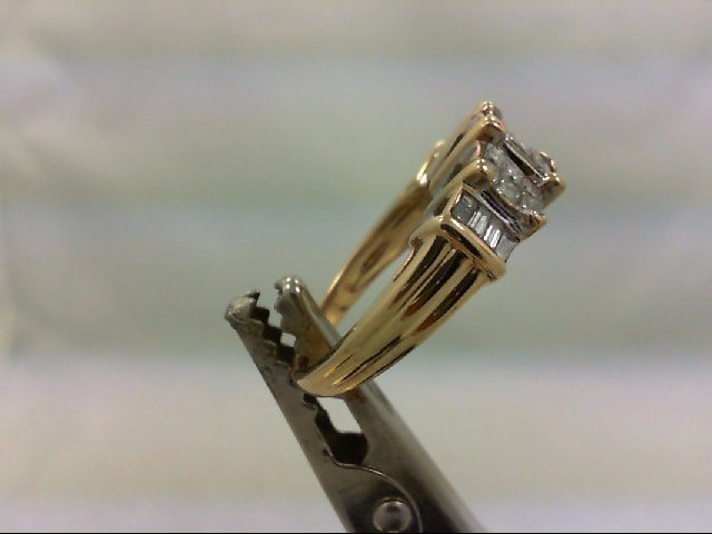 Lady's Diamond Engagement Ring 26 Diamonds 1.24 Carat T.W. 14K Yellow Gold 5.6g