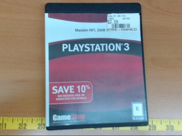 SONY Sony PlayStation 3 MADDEN NFL 2008
