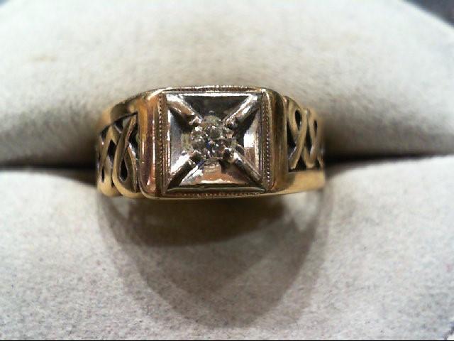 Gent's Diamond Fashion Ring .12 CT. 10K Yellow Gold 3.5g