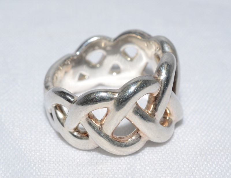 Lady's Silver Ring 925 Silver 9.6g Size:6.5