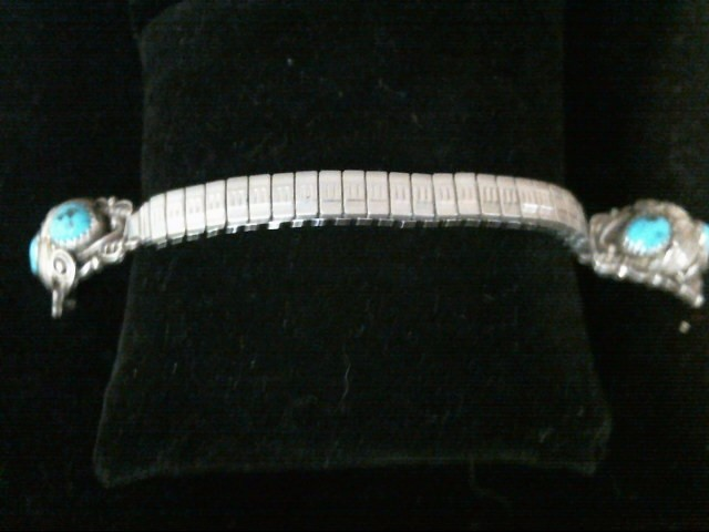 Silver Turquoise Watch Band