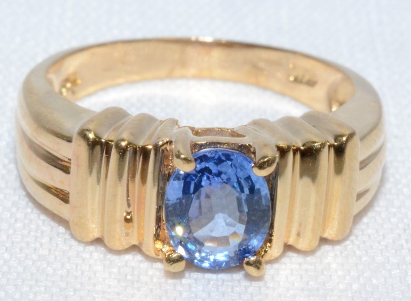 14K YELLOW GOLD IMPERIAL TANZANITE VINTAGE RING SIZE 6