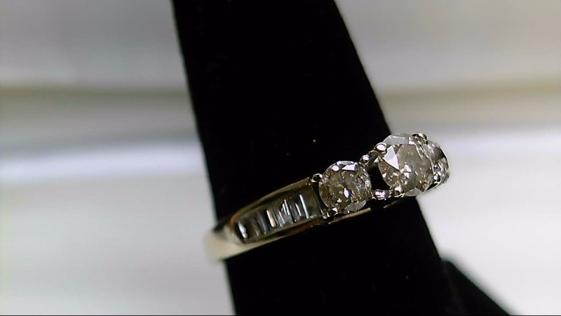 Lady's Diamond Cluster Ring 16 Diamonds .97 Carat T.W. 14K Yellow Gold 3.1g