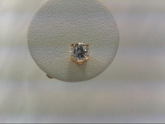 Gold-Diamond Earrings 2 Diamonds .60 Carat T.W. 14K Yellow Gold 1g