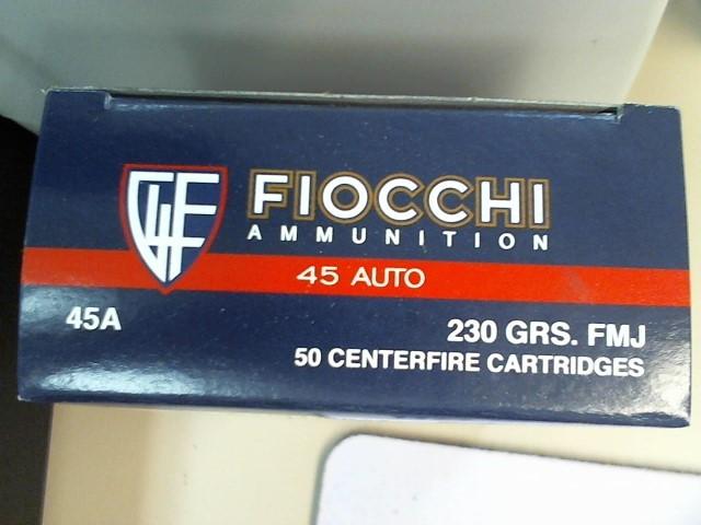 FIOCCHI AMMUNITION Ammunition 45 AUTO