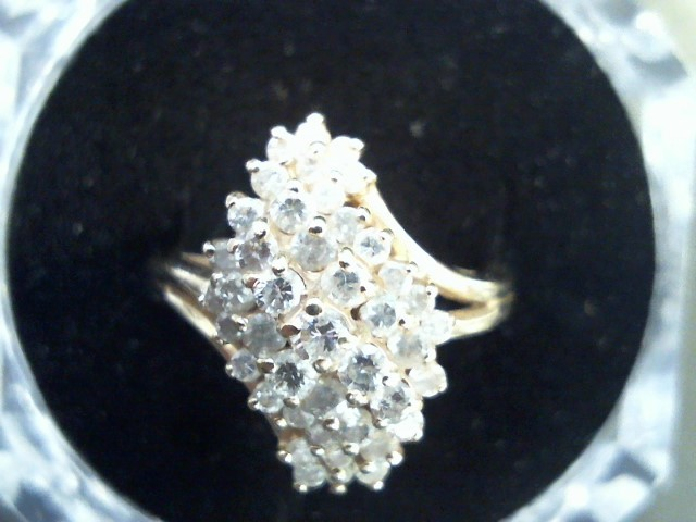 Lady's Diamond Fashion Ring 42 Diamonds 2.10 Carat T.W. 14K Yellow Gold 5.8g