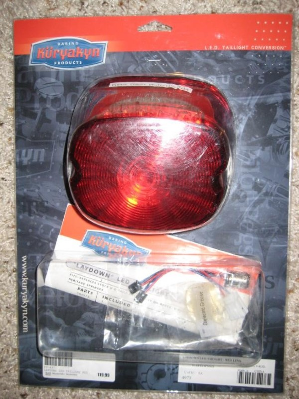 KURYAKYN 4973; PLAIN RED LAYDOWN LED TAILLITE