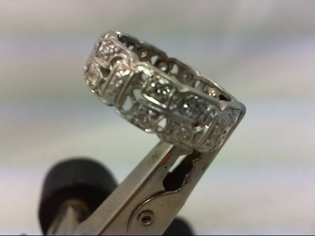 Lady's Gold-Diamond Anniversary Ring 20 Diamonds .80 Carat T.W. 14K White Gold