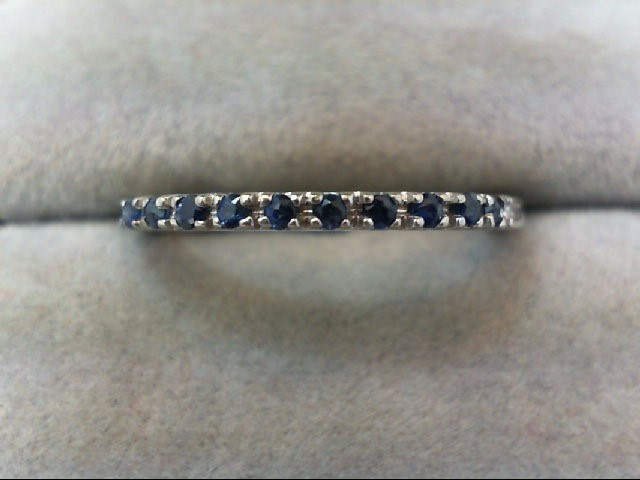 Sapphire Lady's Stone Ring 14K White Gold 2.2g