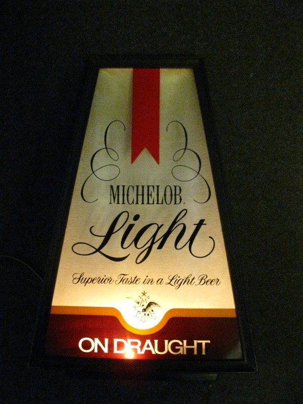 MICHELOB LIGHT DRAUGHT SIGN