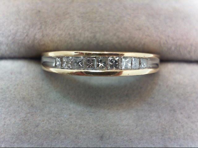 Lady's Diamond Wedding Band 9 Diamonds .36 Carat T.W. 14K Yellow Gold 3.3g