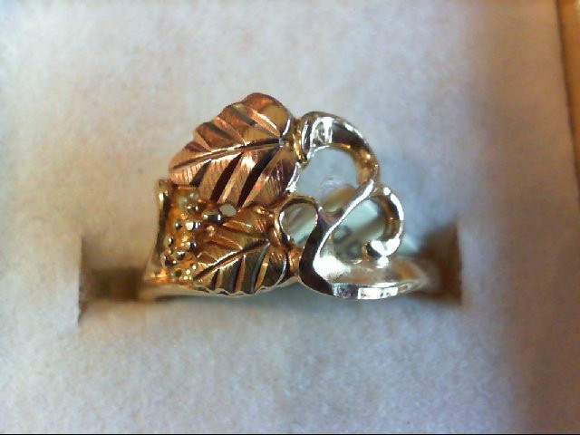 Lady's Gold Ring 10K 2 Tone Gold 2.4g