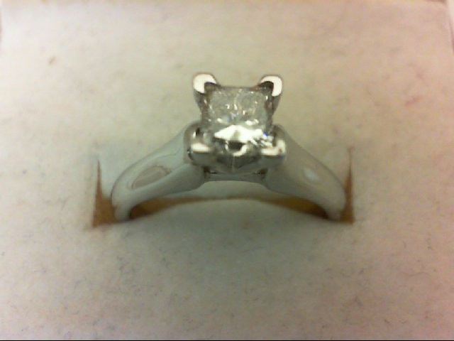 Lady's Platinum-Diamond Solitaire .60 CT. 950 Platinum 6.08g