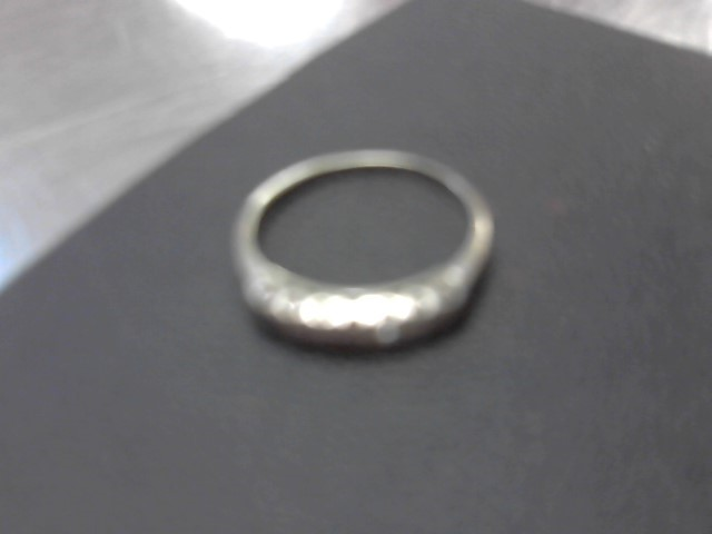 Lady's Diamond Cluster Ring 5 Diamonds .05 Carat T.W. 14K White Gold 1.7g