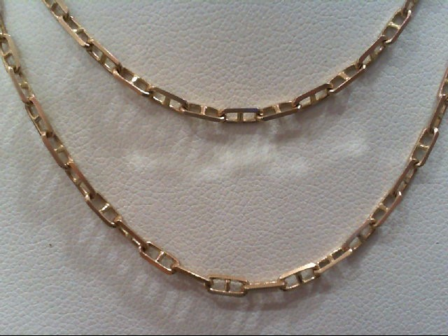 "20"" Gold Anchor Chain 14K Yellow Gold 6.1g"