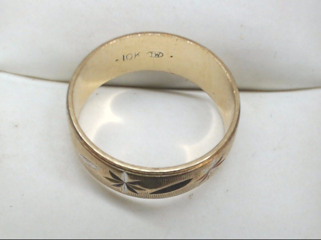Lady's Gold Wedding Band 10K Yellow Gold 2.5g Size:4.75