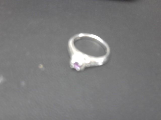 Purple Stone Lady's Stone & Diamond Ring 32 Diamonds .48 Carat T.W.