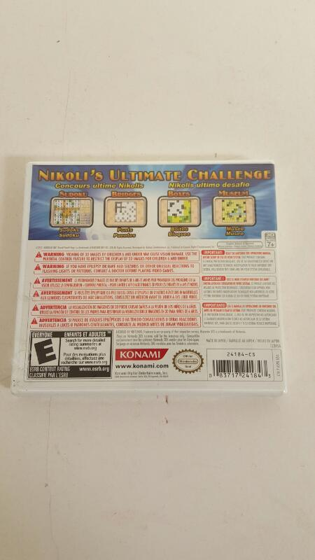 Nikoli's Pencil Puzzle (Nintendo 3DS, 2011) - NEW - FREE SHIPPING
