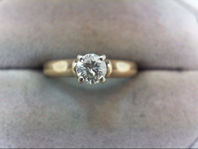 Lady's Diamond Solitaire Ring .35 CT. 14K Yellow Gold 3.6g