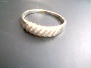 Gent's Gold-Diamond Wedding Band 21 Diamonds .21 Carat T.W. 10K White Gold 2g