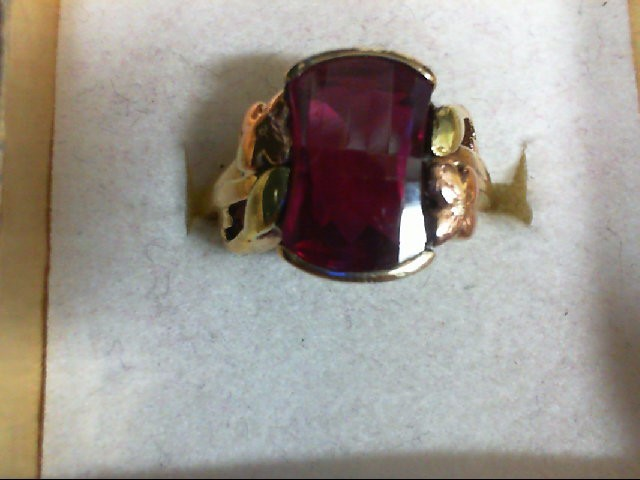 Lady's Gold Ring 10K Tri-color Gold 3.6g Size:5.75