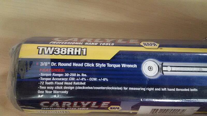 "Napa 3/8"" Torque Wrench"