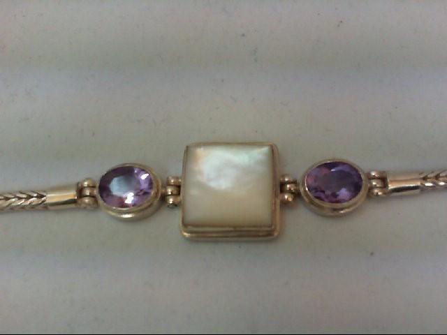 Amethyst Silver-Stone Bracelet 925 Silver 21g