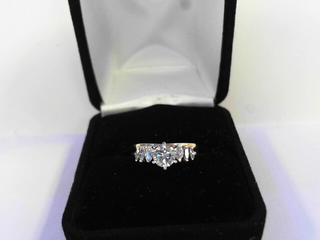 Lady's Diamond Engagement Ring .72 CT. 14K White Gold 1.5dwt