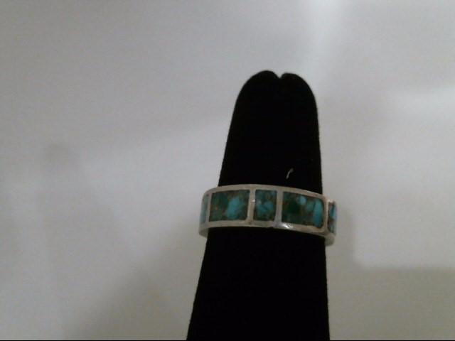 Silver Turquoise Inlay Ring