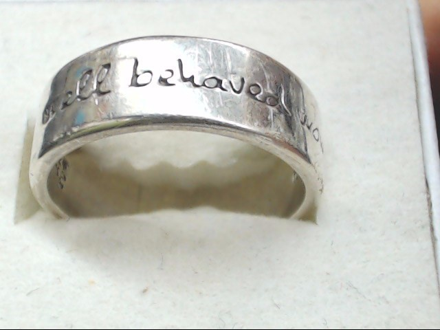 Lady's Silver Ring 925 Silver 6.1g Size:8.5