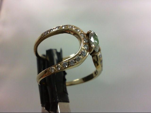 Lady's Diamond Fashion Ring 0.3 CT. 14K Yellow Gold 2.9g