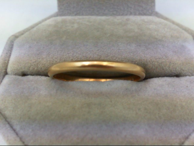 Gent's Gold Wedding Band 14K Yellow Gold 2.1g Size:12