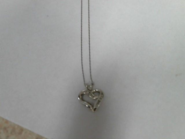 Gold-Multi-Diamond Pendant 8 Diamonds .40 Carat T.W. 10K White Gold 1.4dwt