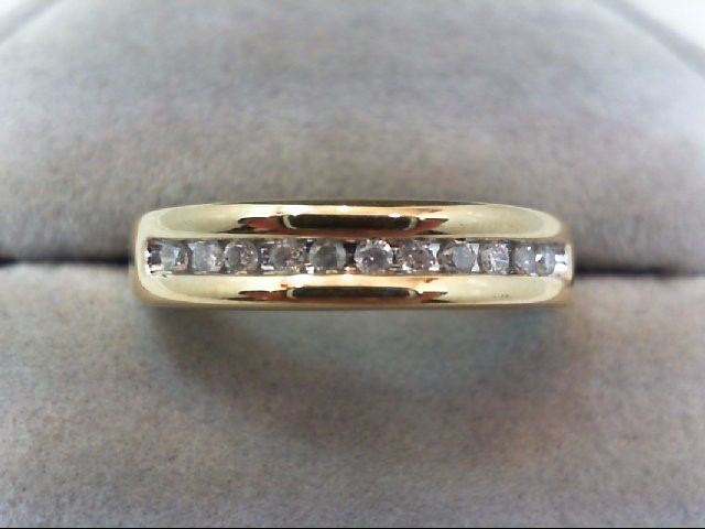 Lady's Diamond Wedding Band 11 Diamonds .33 Carat T.W. 10K Yellow Gold 3g