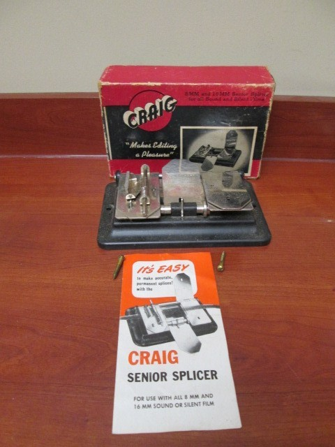 VINTAGE CRAIG 8MM AND 16MM SOUND SILENT FILM SENIOR EDITING SPLICER