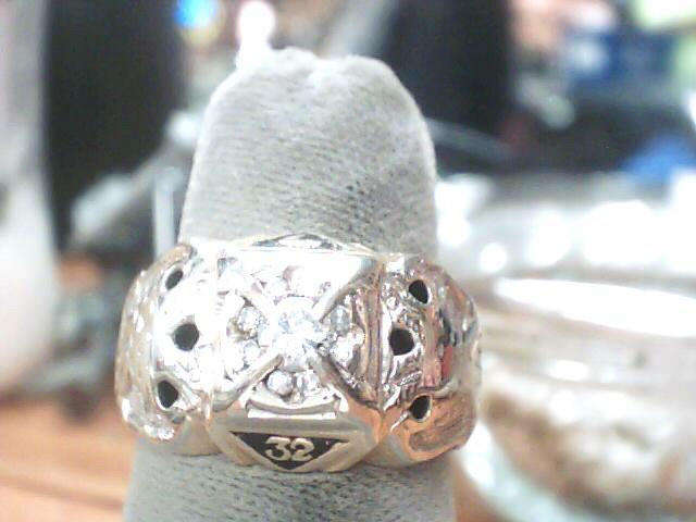 Gent's Diamond Fashion Ring 7 Diamonds .21 Carat T.W. 10K Yellow Gold 5.5dwt