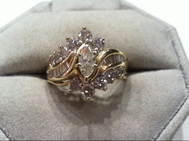 Lady's Diamond Wedding Set 27 Diamonds 1.26 Carat T.W. 14K Yellow Gold 7g
