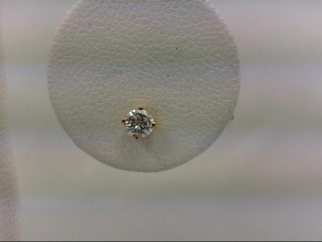 Gold-Diamond Earrings 0.11 CT. 14K Yellow Gold 0.3g
