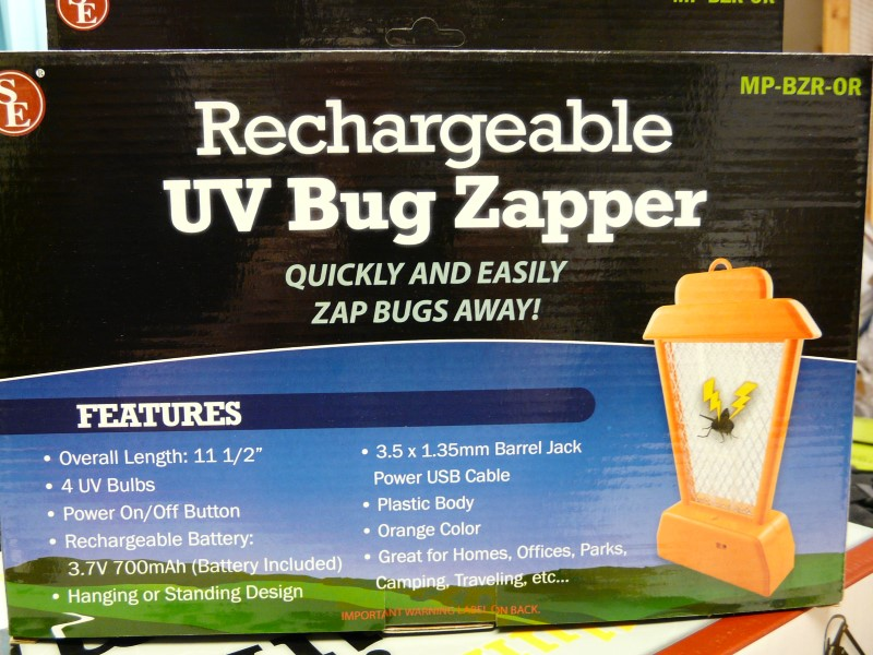 SONA ENTERPRISES MP-BZR-OR RECHARGEABLE UV BUG ZAPPER (ORANGE)
