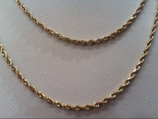 "23"" Gold Rope Chain 10K Yellow Gold 4.1g"