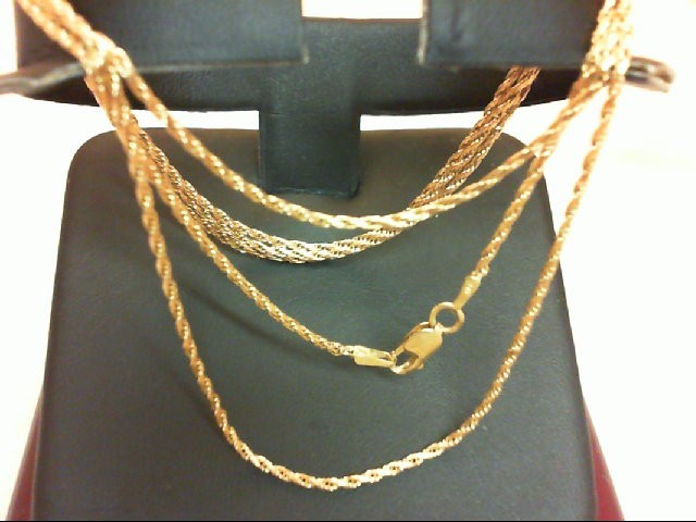 Gold Fashion Chain 14K Yellow Gold 4.4g